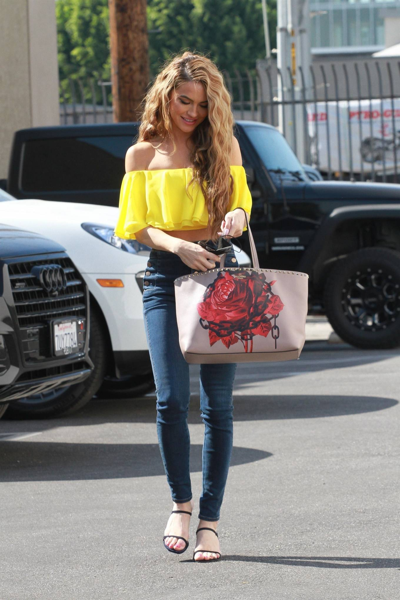 Chrishell Stause 2020 : Chrishell Stause – In a yellow top and denim seen at the DWTS studio in Los Angeles-09