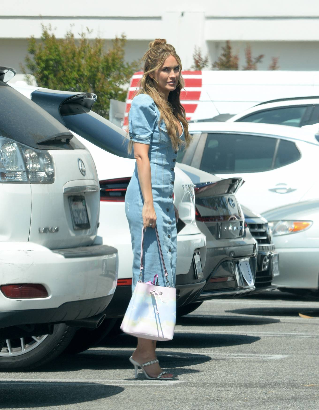 Chrishell Stause 2021 : Chrishell Stause – Leaving her office in Los Angeles-09