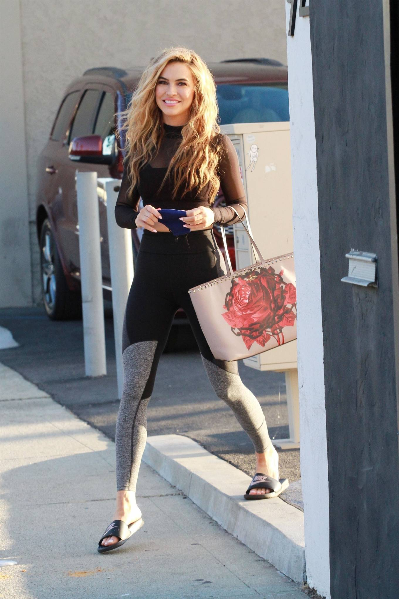 Chrishell Stause 2020 : Chrishell Stause – Look Sporty at DWTS studio in Los Angeles-02
