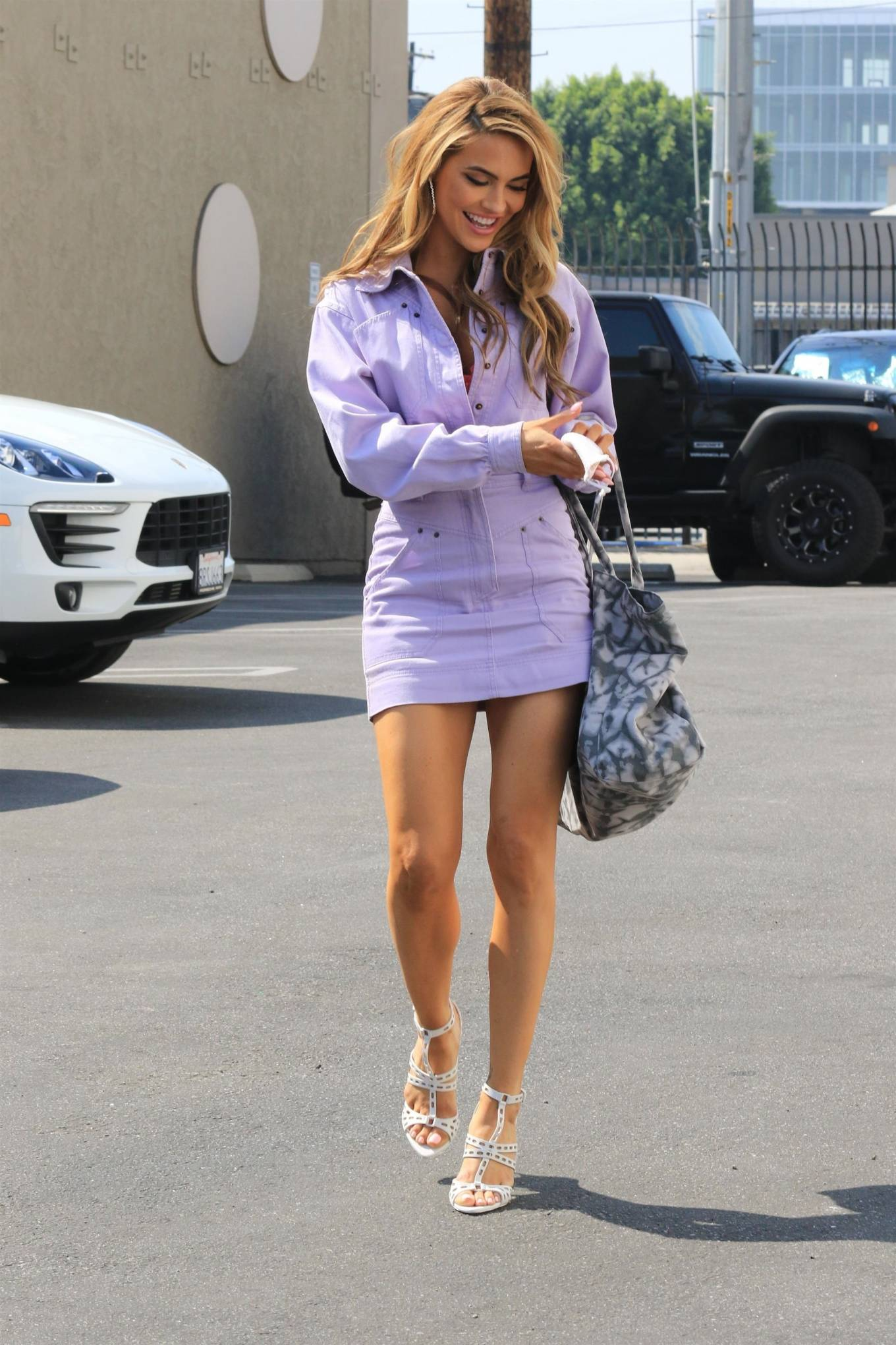 Chrishell Stause - outside the Dancing With The Stars rehearsal studio in Los Angeles