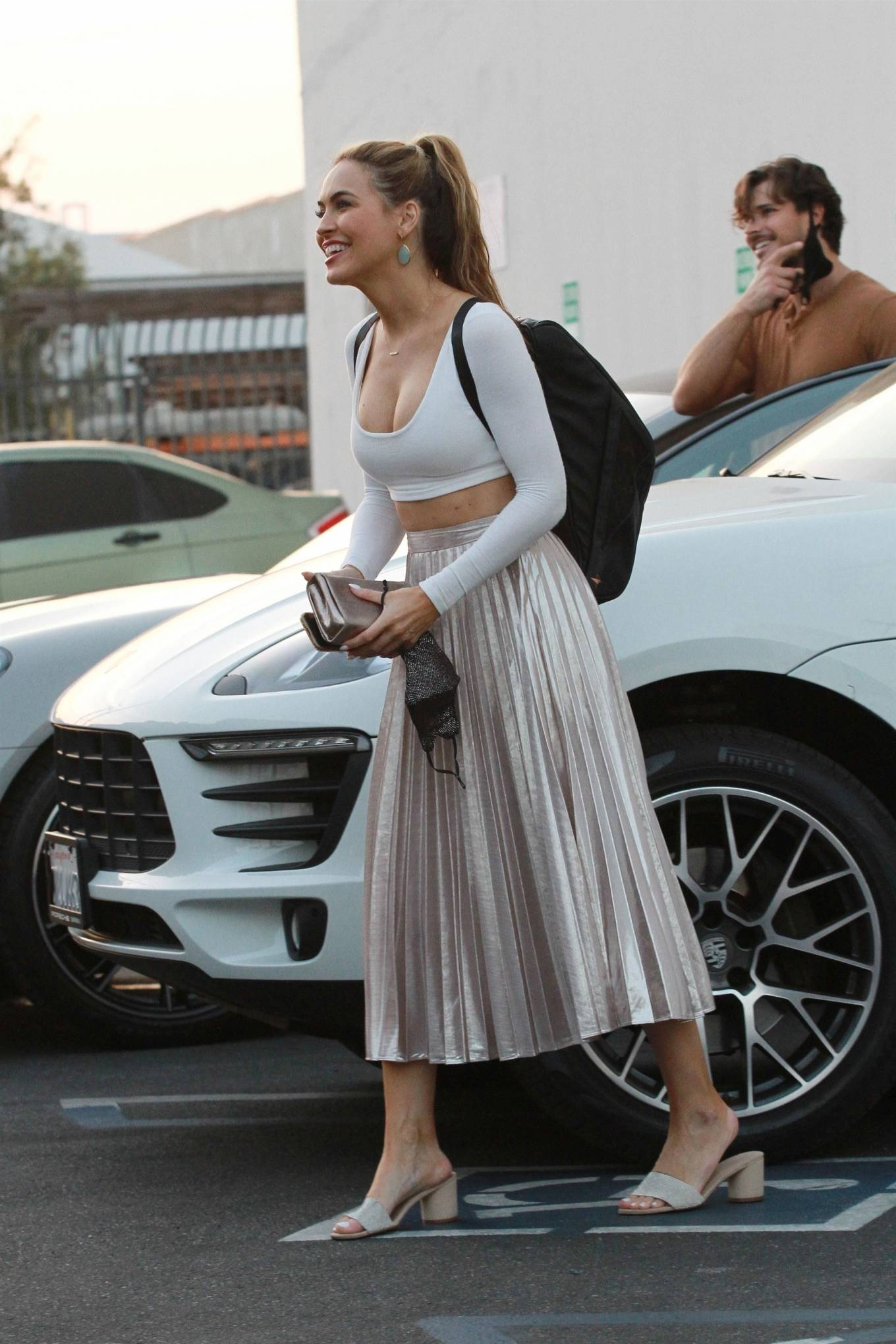 Chrishell Stause 2020 : Chrishell Stause – Seen Leaving the DWTS studio in Los Angeles-08
