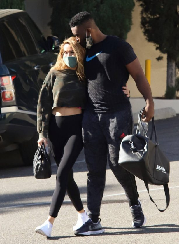 Chrishell Stause - With DWTS fellow member and new boyfriend Keo Motsepe in Beverly Hills