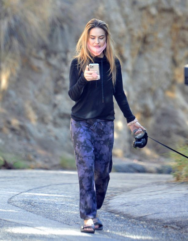 Chrishell Stause - Withe her dog Gracie on a morning walk in Hollywood Hills