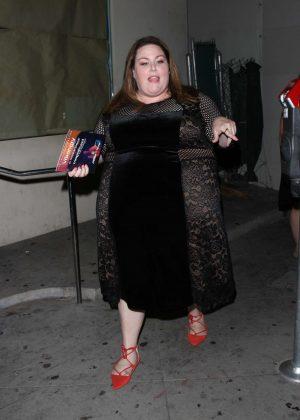 Chrissy Metz - Leaving Craig's restaurant in West Hollywood