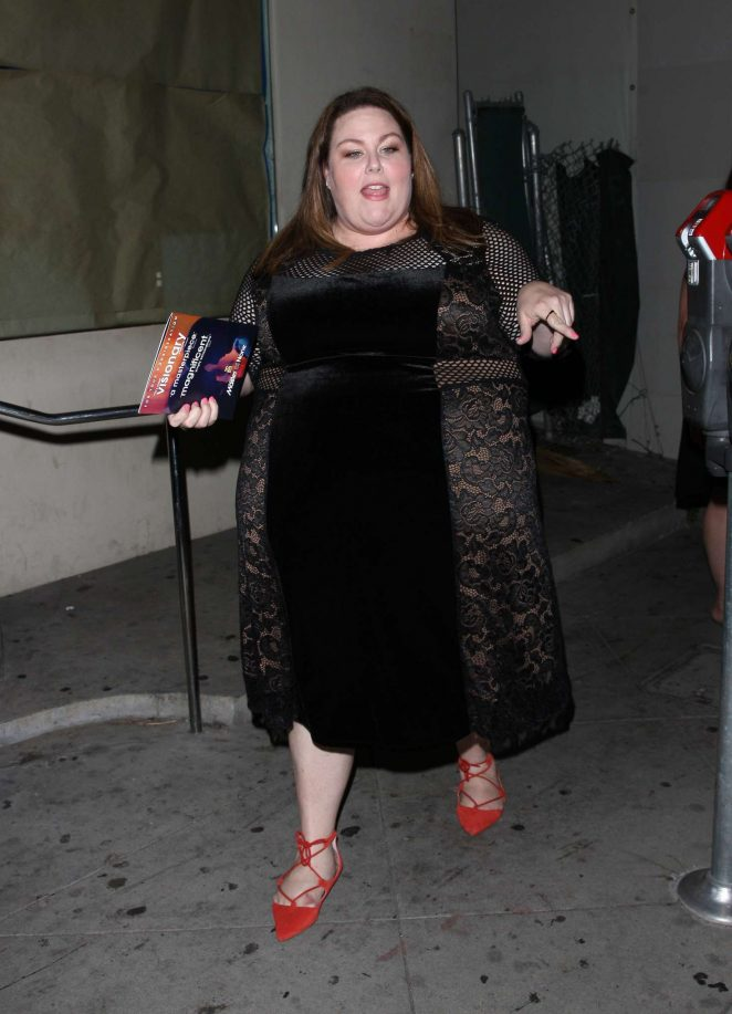 Chrissy Metz - Leaving Craig's restaurant in West Hollywood