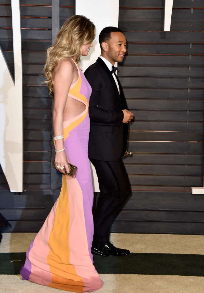 Chrissy Teigen - 2015 Vanity Fair Oscar Party in Hollywood