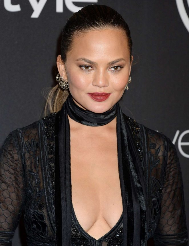 Chrissy Teigen - 2017 InStyle and Warner Bros Golden Globes After Party in LA