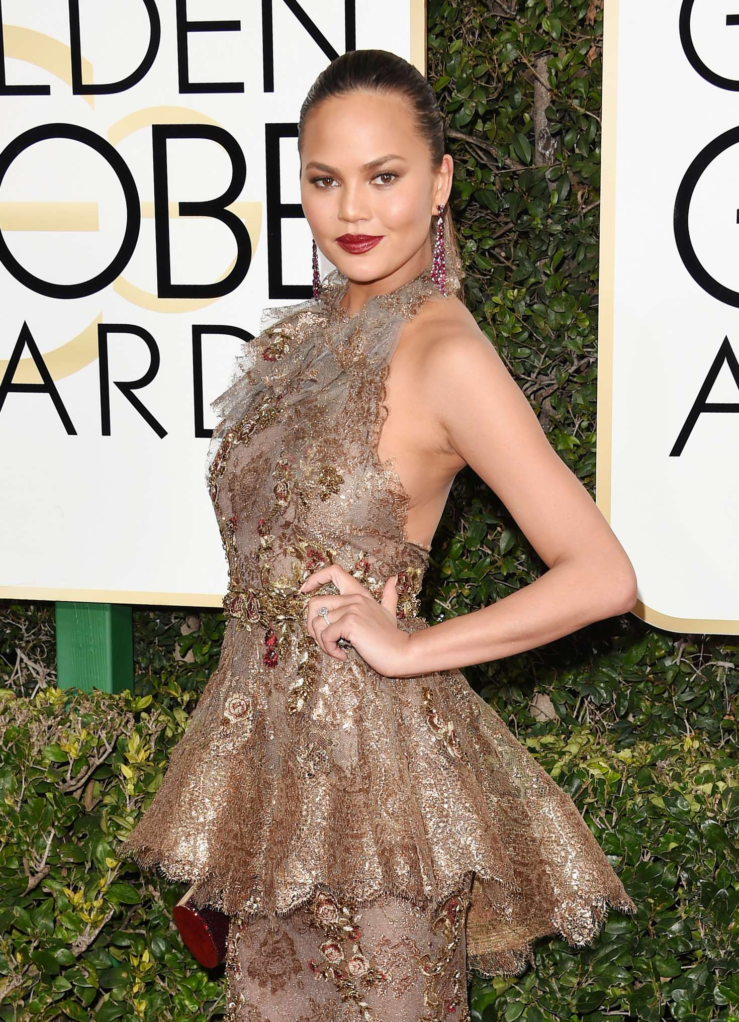 Chrissy Teigen - 74th Annual Golden Globe Awards in Beverly Hills