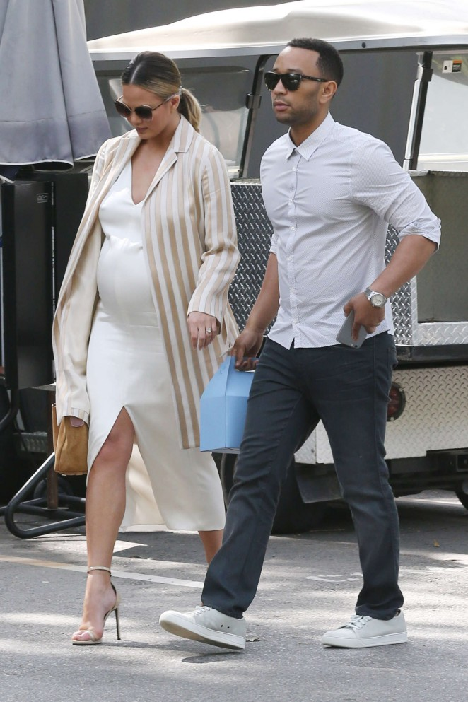 Chrissy Teigen and John Legend at Hotel Bel Air in LA