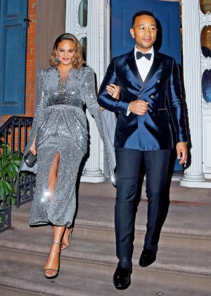 Chrissy Teigen and John Legend - Head to the Grammy's in NY