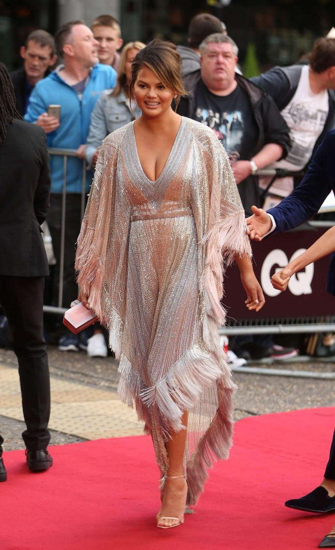 Chrissy Teigen - Arriving at the GQ Men of the Year Awards in London
