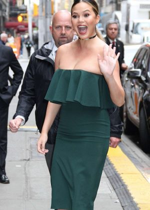 Chrissy Teigen at Good Morning America in New York