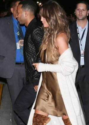 Chrissy Teigen at Kanye West's 'Saint Pablo Tour' in Inglewood