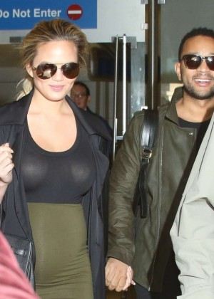Chrissy Teigen at LAX Airport in LA