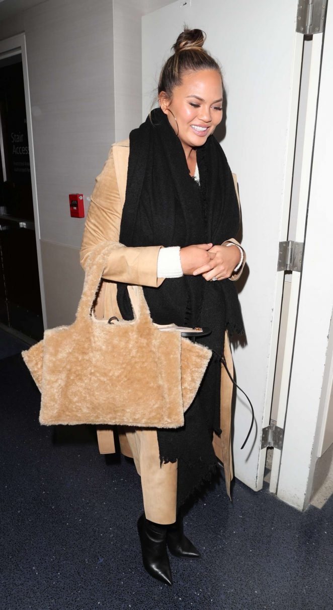 Chrissy Teigen at LAX Airport in Los Angeles