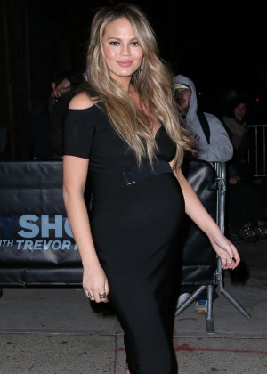 Chrissy Teigen at 'The Daily Show with Trevor Noah' in New York City