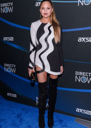 Chrissy Teigen - DIRECTV NOW Super Saturday Night Concert in Houston