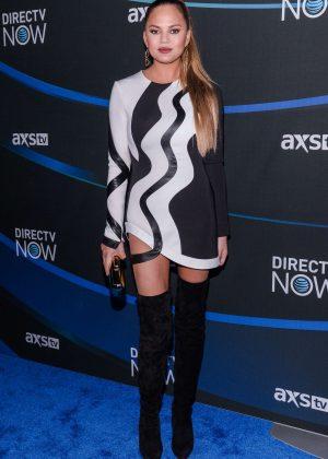 Chrissy Teigen - DIRECTV NOW Super Saturday Night Concert in Houston