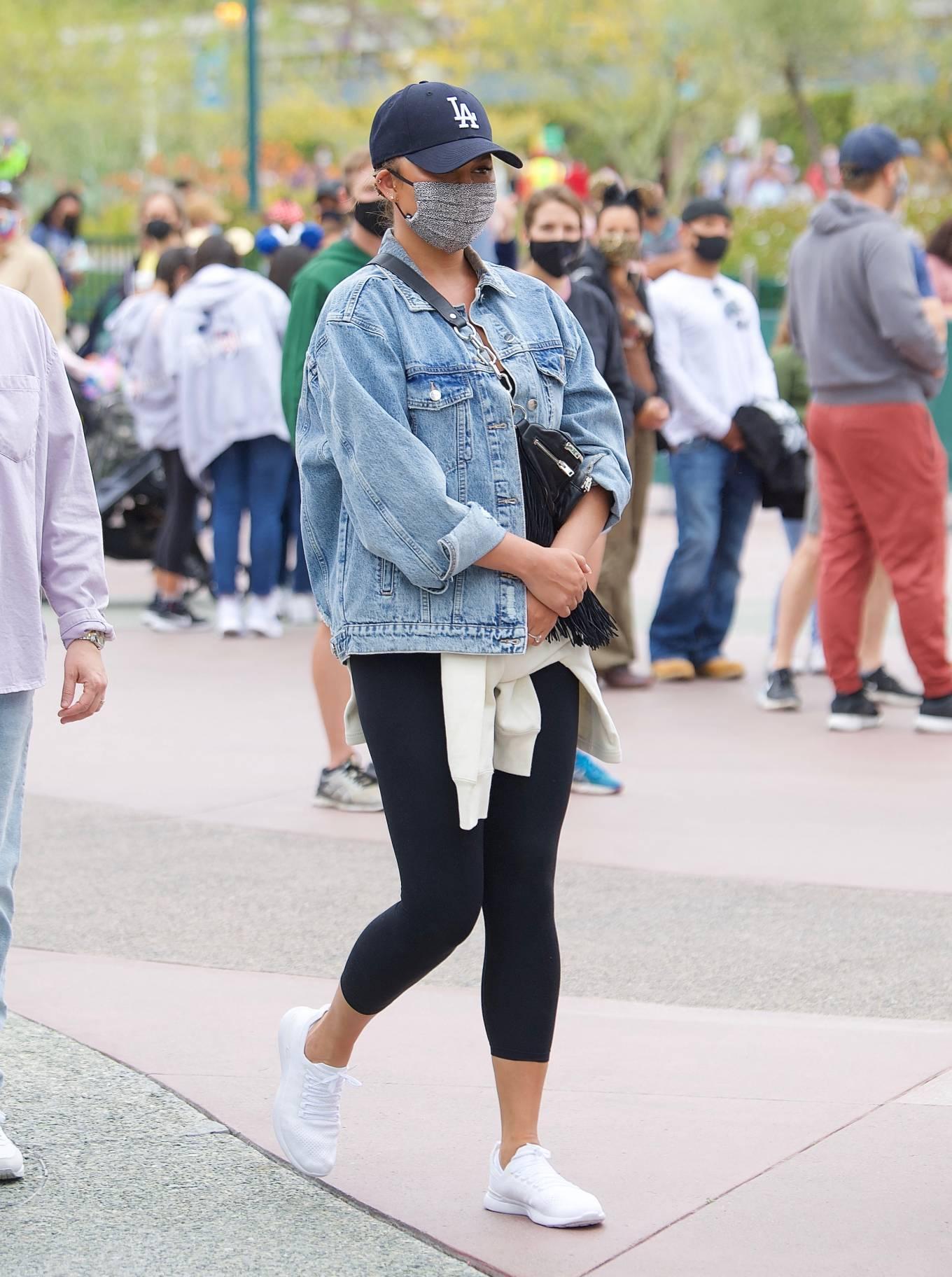 Chrissy Teigen - family day at Disneyland in Los Angeles