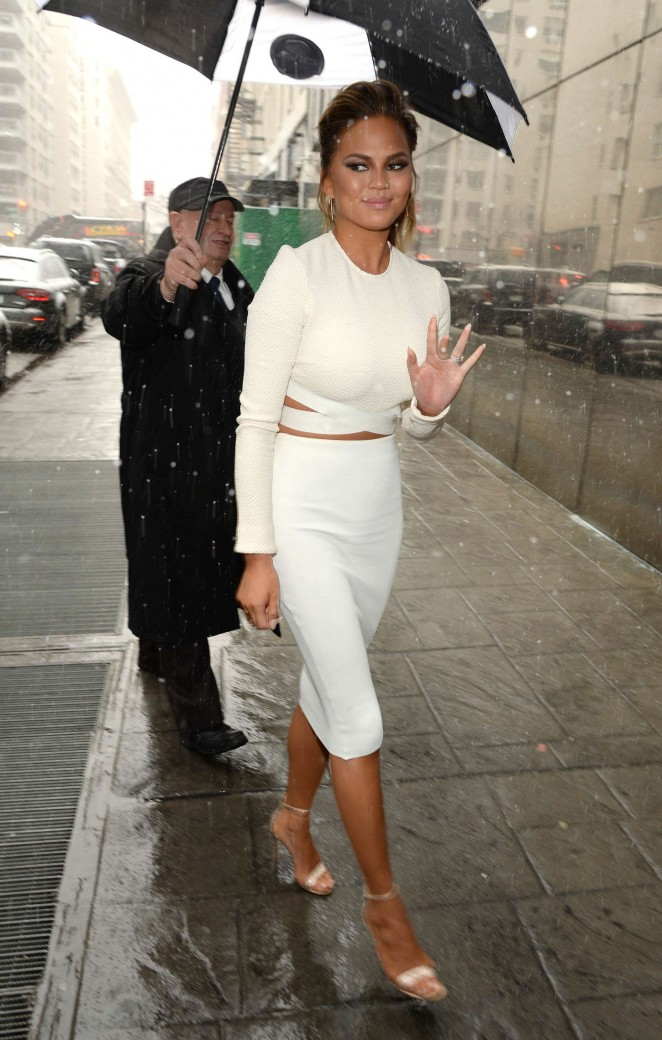 Chrissy Teigen: Fox 5 Good Day New York -30