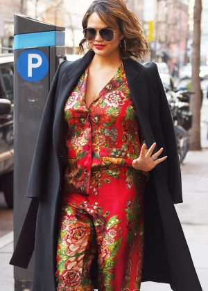Chrissy Teigen - Heads to a meeting in New York