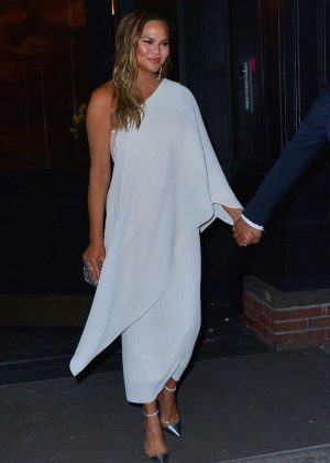 Chrissy Teigen - Heads to the Glamour Awards in New York