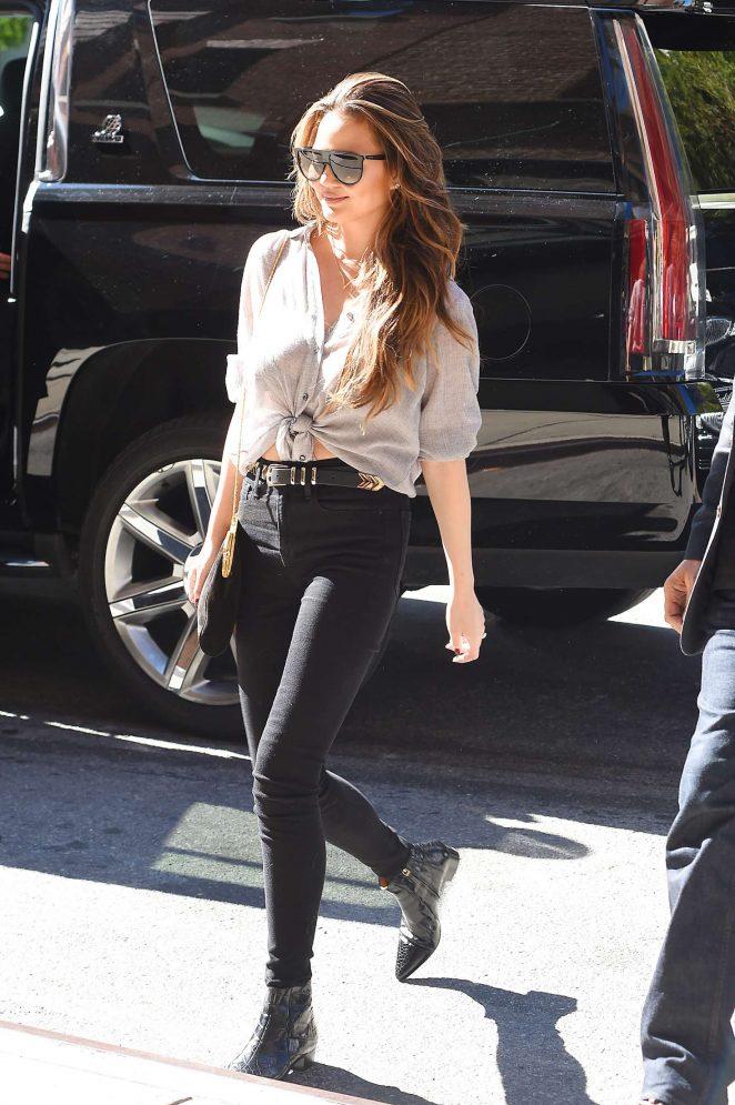 Chrissy Teigen in Black Jeans out in Tribeca