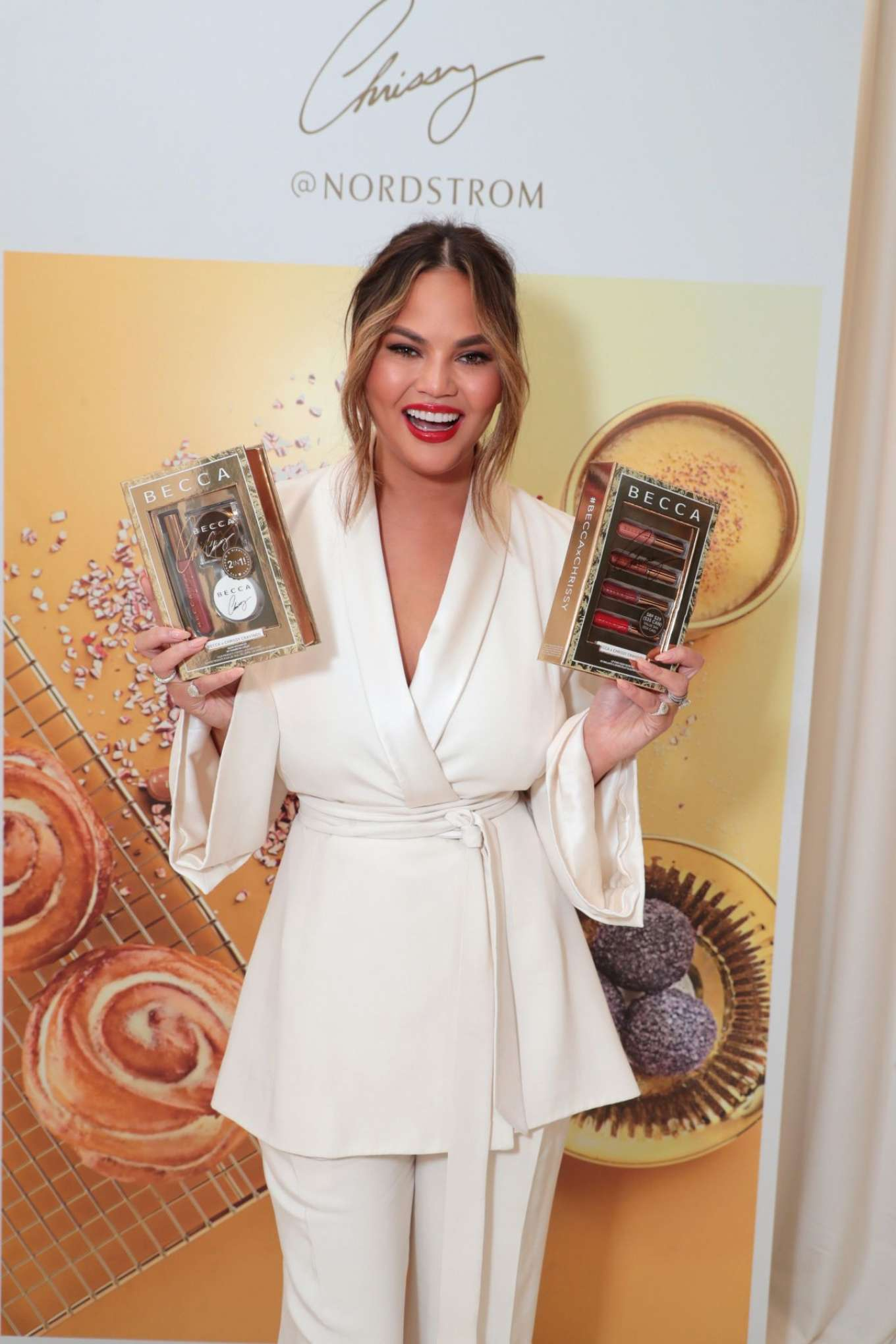 Chrissy Teigen – Launch of BECCA x Chrissy Cravings Collection in Los Angeles