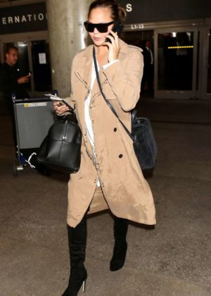 Chrissy Teigen - LAX Airport in LA