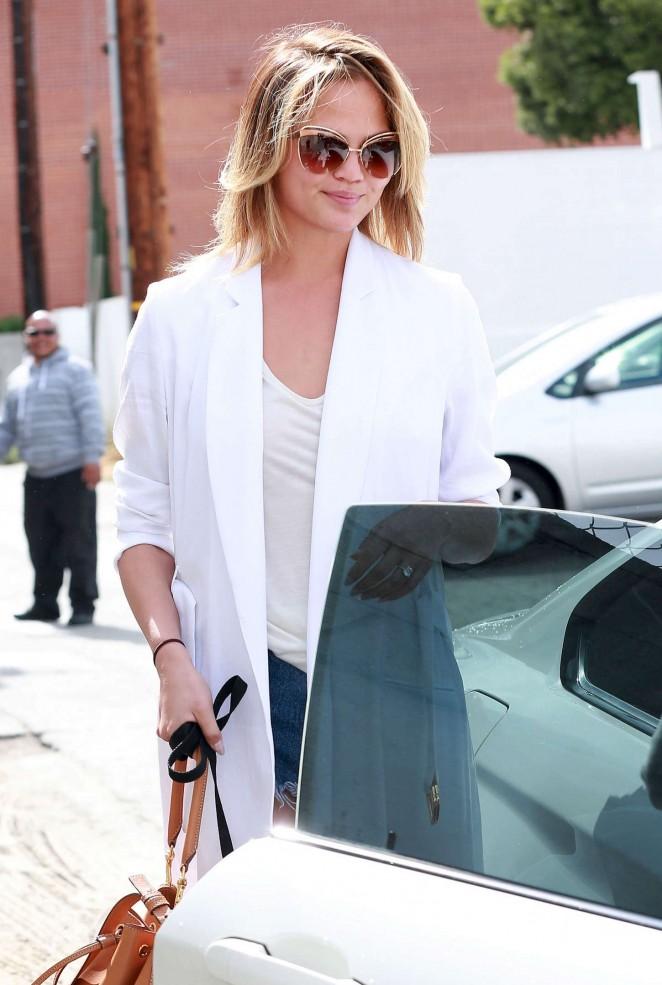 Chrissy Teigen - Leaving Meche Salon in Beverly Hills