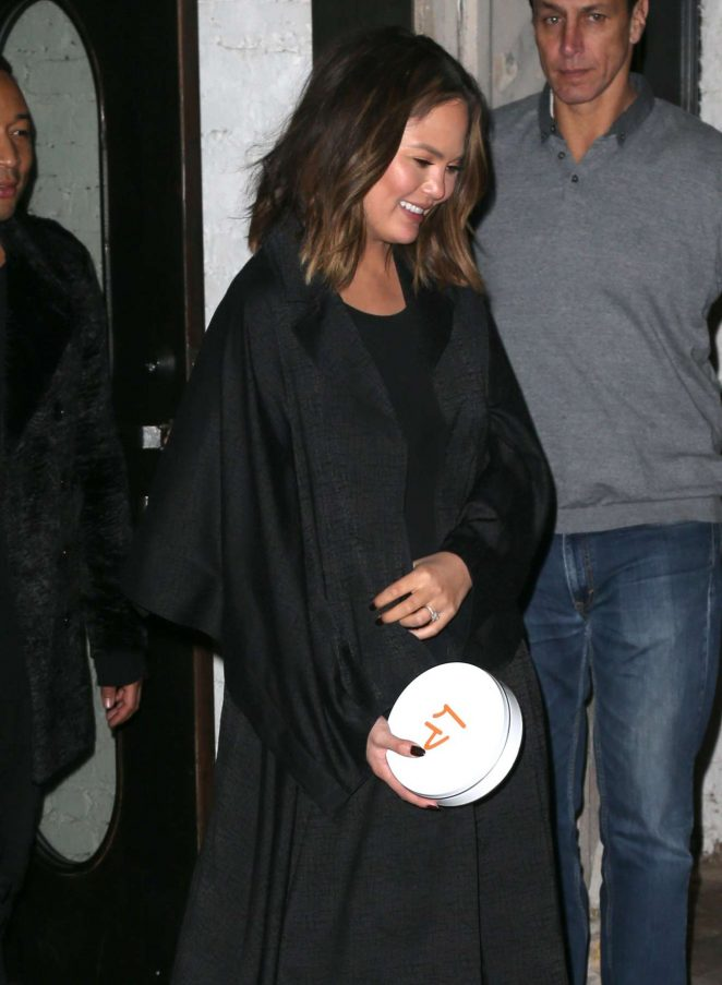 Chrissy Teigen - Night out in New York