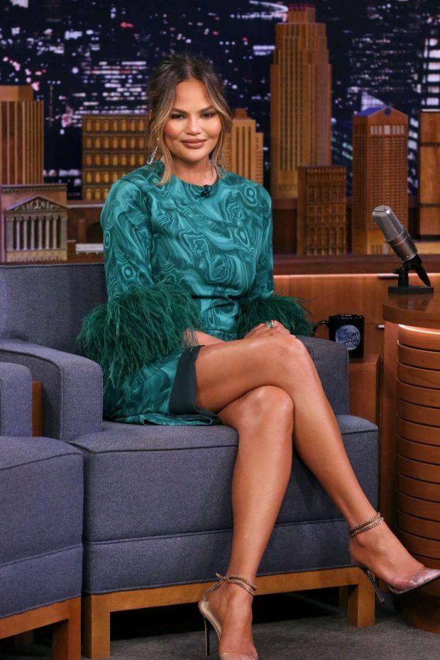 Chrissy Teigen - On 'The Tonight Show Starring Jimmy Fallon' in NYC