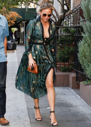 Chrissy Teigen - Out and about in New York City
