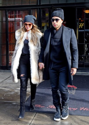 Chrissy Teigen - Out and about in NYC