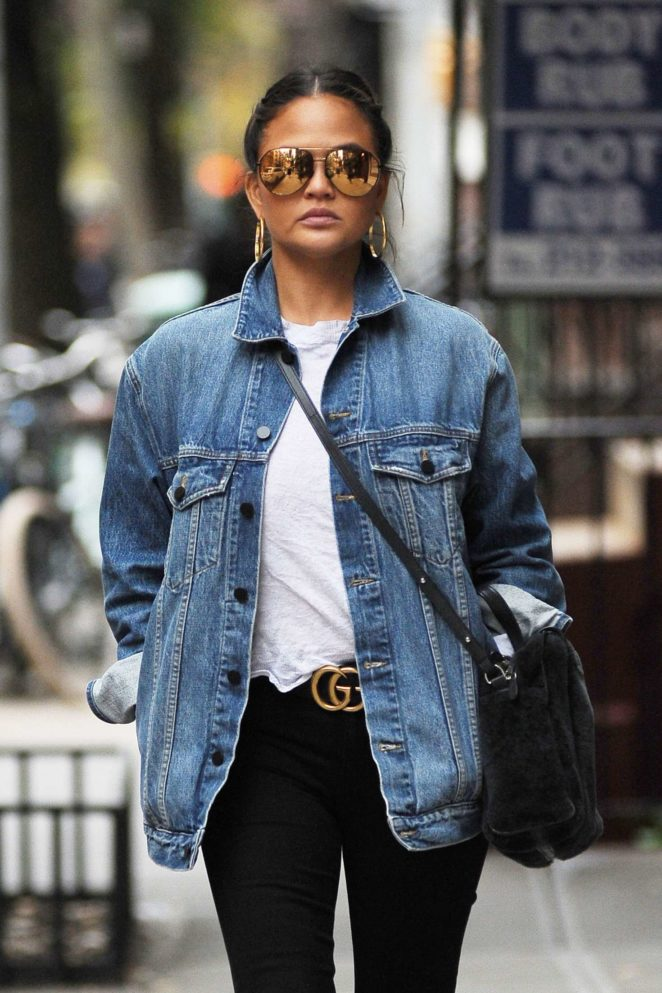 Chrissy Teigen out and about in Soho