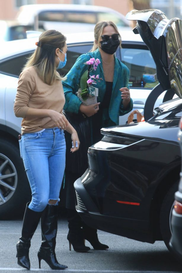 Chrissy Teigen - Out and about in West Hollywood
