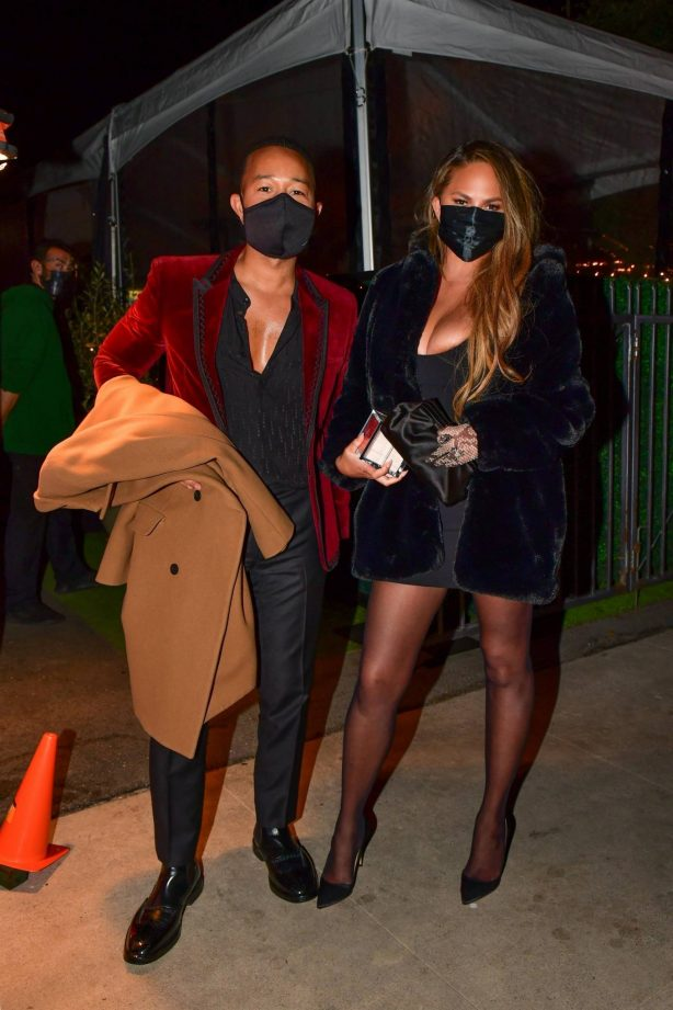 Chrissy Teigen - Out for a Valentine's Day dinner in Los Angeles