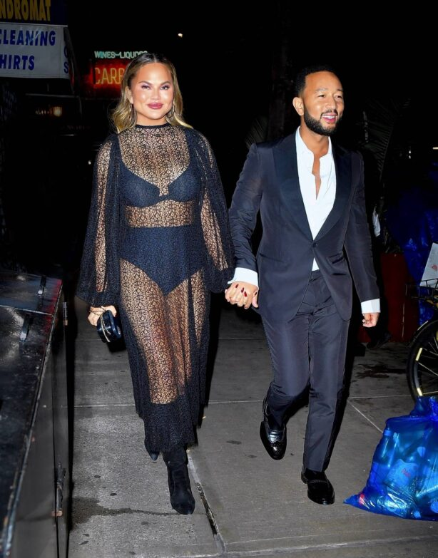 Chrissy Teigen - Out for late-night dinner in New York