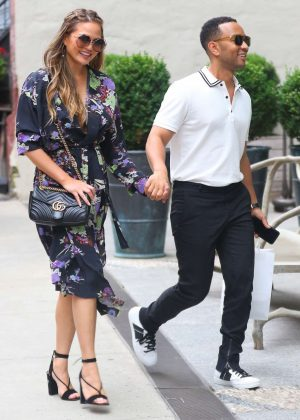 Chrissy Teigen out in New York