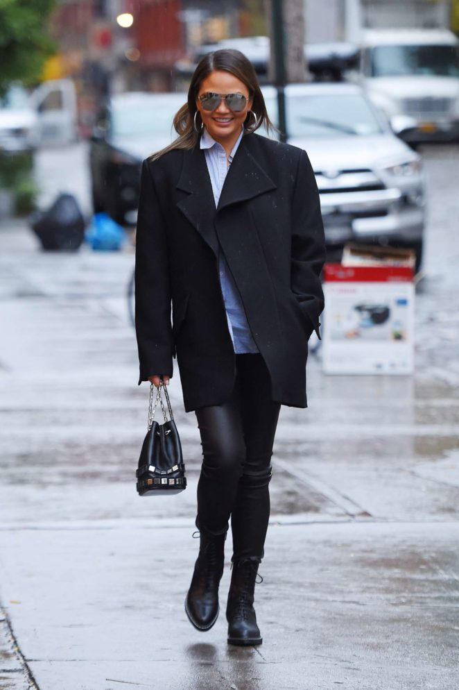 Chrissy Teigen out shopping in New York City
