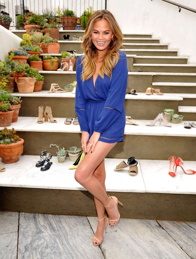 Chrissy Teigen - RAYE Shoe Launch Event in West Hollywood