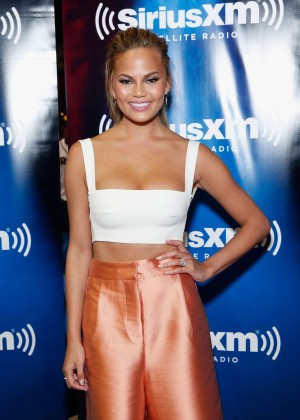 Chrissy Teigen - SiriusXM at Super Bowl XLIX Radio Row in Phoenix