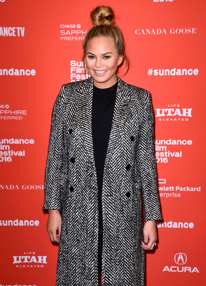 Chrissy Teigen - 'Southside With You' Premiere during the 2016 Sundance Film Festival