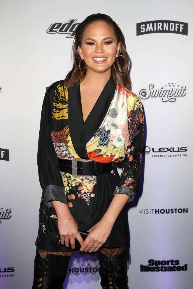 Chrissy Teigen – Sports Illustrated Swimsuit Edition Launch Event in NY