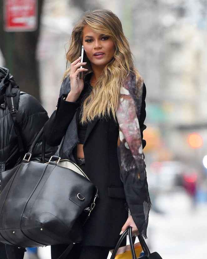 Chrissy Teigen Style - Out and about in NYC