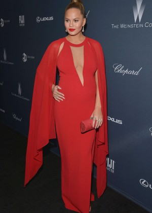 Chrissy Teigen - The Weinstein Company's Pre-Oscar Dinner 2016 in Beverly Hills