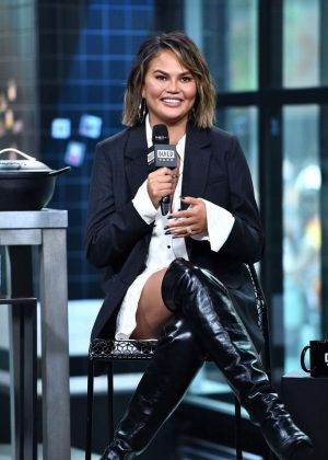 Chrissy Teigen - Visit AOL Build Series in NYC