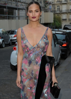Chrissy Teigen - Vogue Party 2015 in Paris
