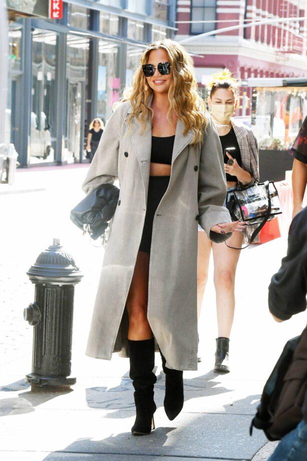 Chrissy Teigen - With John Legend Shopping in SoHo in New York City