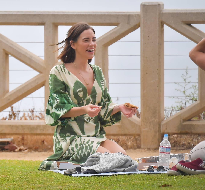 Christa Allen 2020 : Christa Allen – Seen at picnic lunch with a friend in Santa Monica -02